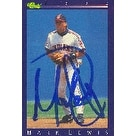 Mark Lewis Cleveland Indians 1992 Classic Autographed Card  This item comes with a certificate of a