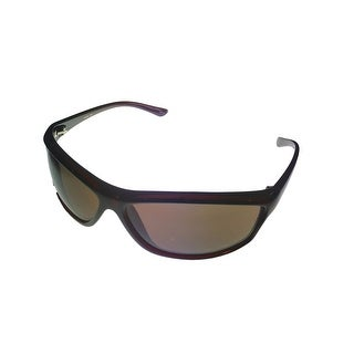 Timberland Mens Sunglass Dark Demi, Brown Lens Plastic Sport Wrap TB7088 50E - Medium