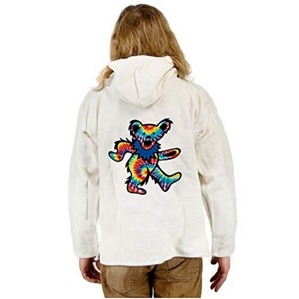 841a60f0c Shop Earth Ragz Unisex Natural Dancing Bear Baja, Adult, Tie Dye - Free  Shipping On Orders Over $45 - Overstock - 25715427