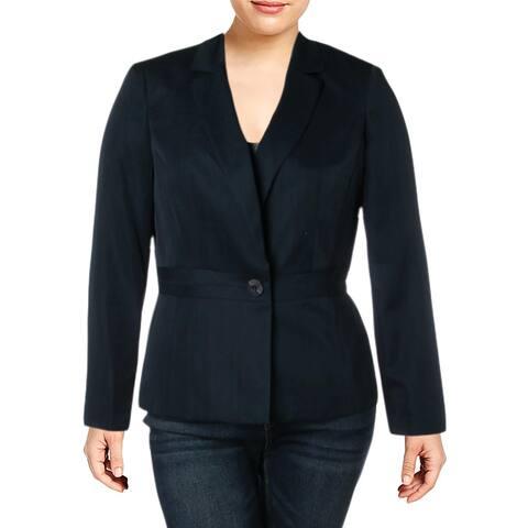 Le Suit Womens One-Button Blazer Pattern Office