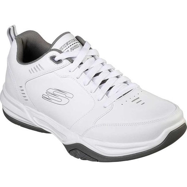 835a9ac9 ... Men's Sneakers. Skechers Men's Relaxed Fit Monaco TR Gold Cats  Trainer White/Gray