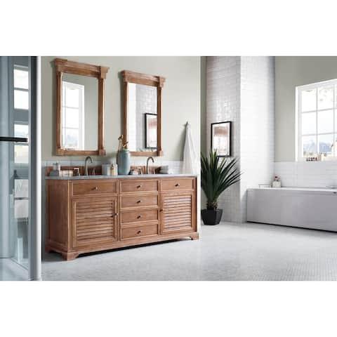 "Savannah 72"" Double Vanity Cabinet, Driftwood"