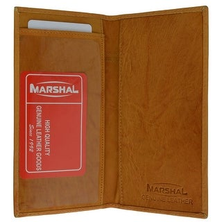 Genuine Leather Simple Check Book Holder style - mw156cf, Tan