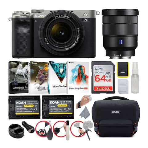 Sony Alpha a7C Mirrorless Camera (Silver) with FE 28-60mm Lens Bundle
