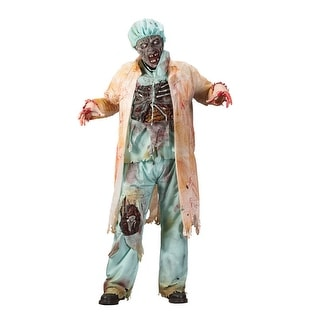 Fun World Zombie Doctor Adult Costume - Green - One size