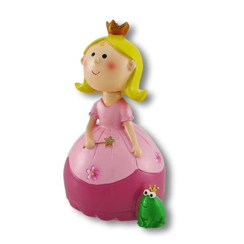 A Princess and Her Frog Bobble Head Coin Bank