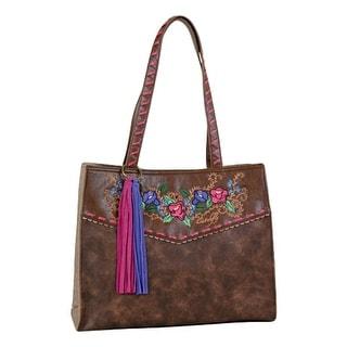 Catchfly Western Handbag Womens Sydney Tote Conceal Chestnut 1716508 - 14 1/2 x 6 1/4 x 12 1/2