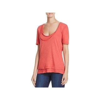 We The Free Womens T-Shirt Layered Short Sleeves