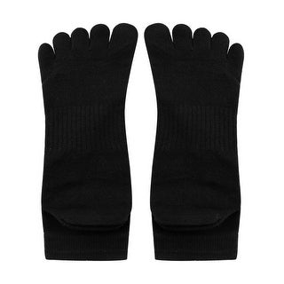 Link to Men Elastic Cuff Ribbed Detail Stretchy Toe Socks Black - mens shoe 6-8/boys 11-12 years Similar Items in Slippers, Socks & Hosiery