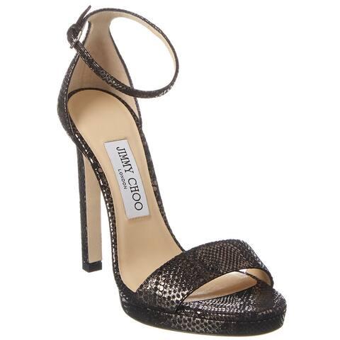 Jimmy Choo Misty 120 Leather Sandal