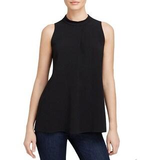 Theory Womens Talniza Pullover Top Crepe Zipper