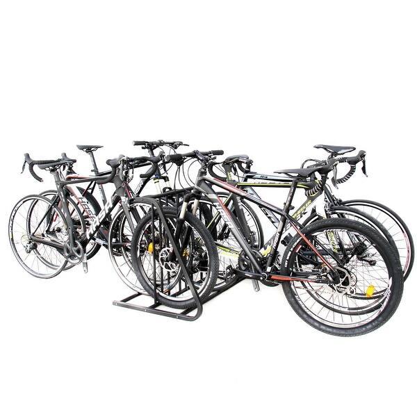 Shop 6 Bike Floor Parking Rack Storage Stand Bicycle Overstock