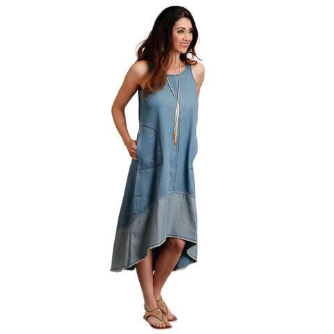 Roper Western Dress Womens Sleeveless Swing Blue