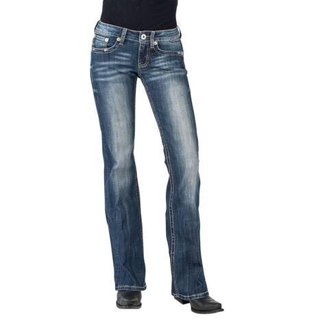 Stetson Western Jeans Womens Bootcut Slim Denim