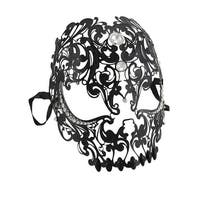Lacy Black Jeweled Wearable Fantasy Masquerade Mask