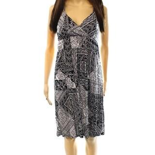 INC NEW Black White Women's Size Small S Empire Waist Printed Dress