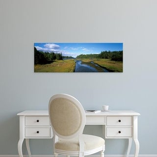 Easy Art Prints Panoramic Images's 'Trees around a marsh, Cape Breton Island, Nova Scotia, Canada' Premium Canvas Art