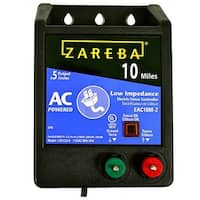 Zareba EAC10M-Z AC Low Impedance Fence Charger, 10 Mile