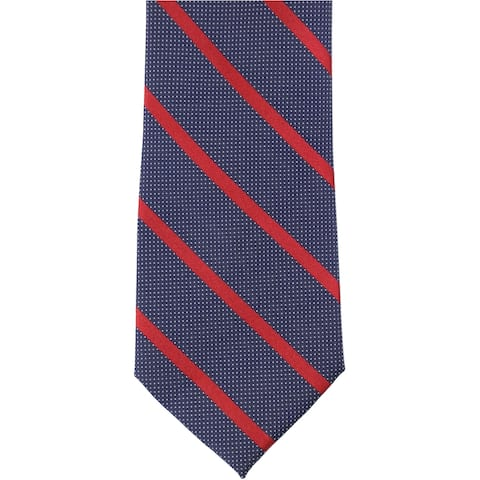 Nautica Mens Striped Micro Dot Self-tied Necktie, blue, Classic (57 To 59 in.) - Classic (57 To 59 in.)