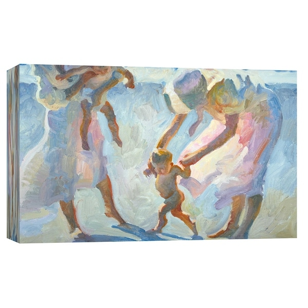 """PTM Images 9-101721 PTM Canvas Collection 8"""" x 10"""" - """"First Encounter"""" Giclee Children and Women Art Print on Canvas"""