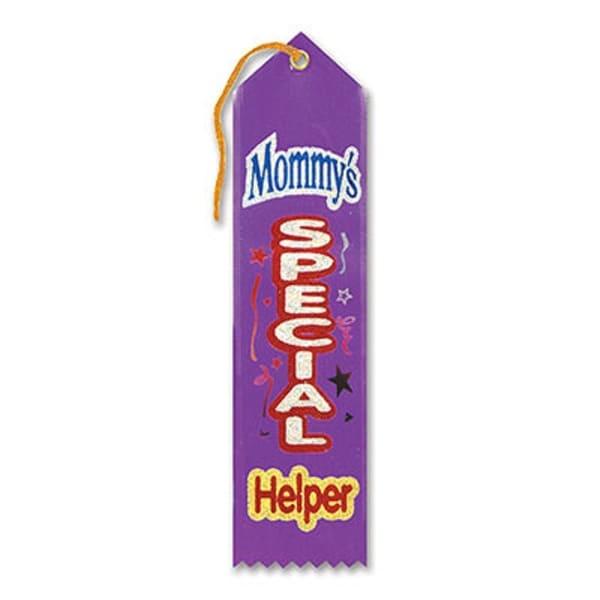 "Pack of 6 Purple ""Mommy's Special Helper Award"" School Award Ribbon Bookmarks 8"" - N/A"