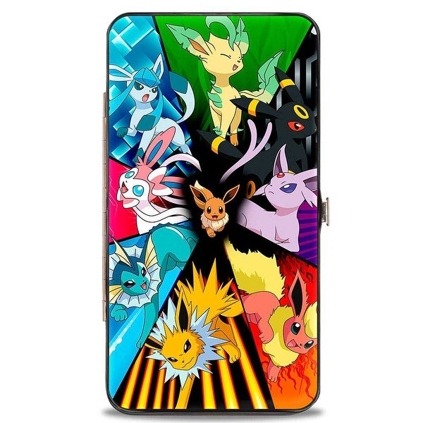 Eevee Center Evolution Pokmon Panels Hinged Wallet - One Size Fits most