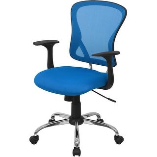 """Delacora FF-H-8369F  25.25"""" Wide Fabric Swivel Task Chair with Mesh Back"""