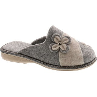 Sc Home Collection Womens 12217 Natural Wool Flower Cozy House Slippers Made In Europe (More options available)