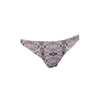 Rachel Rachel Roy Gray Black Snake Print Hipster Bikini Bottom M