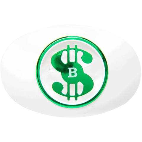 Battle Sports Science Money Spinner Oxygen Lip Protector Mouthguard- White/Green - One Size