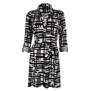 INC International Concepts Women's Hi Low Shirt Dress - matchsticks