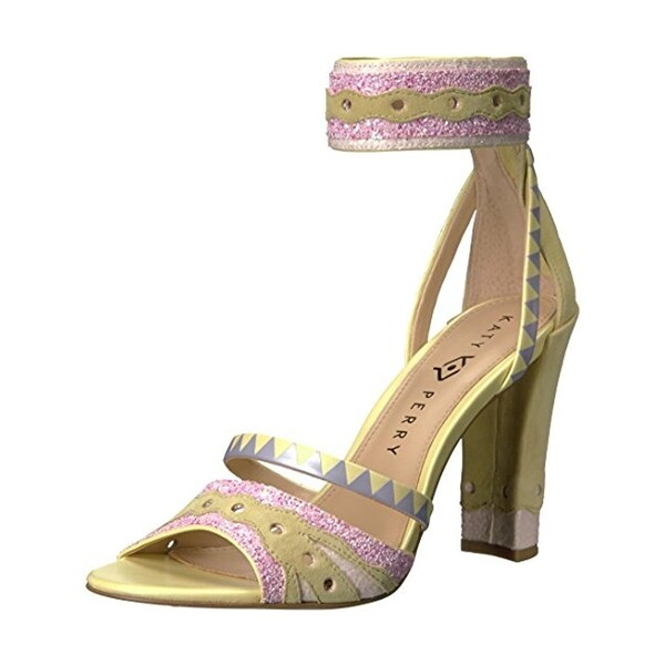 Katy Perry Womens The Kai Dress Sandals Leather Glitter - 8 medium (b,m)