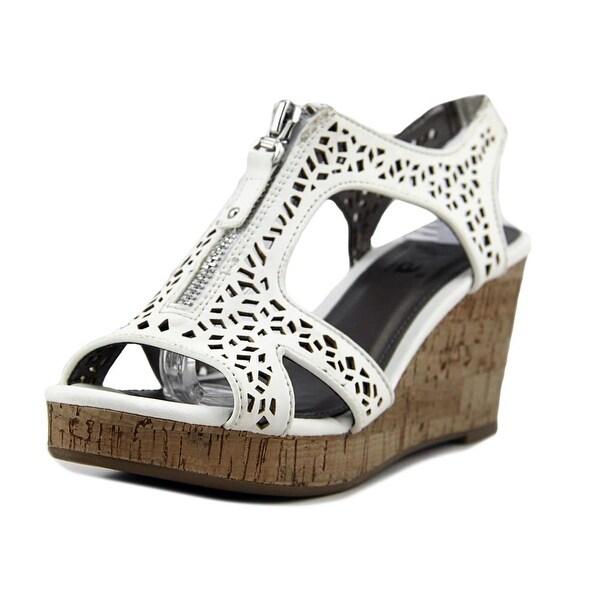 Diba Nala II Women Open Toe Synthetic White Wedge Sandal