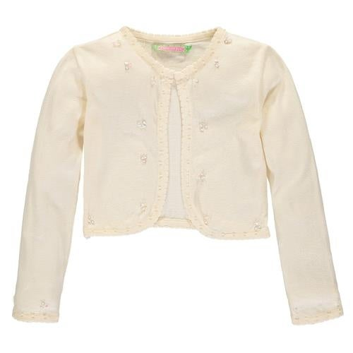 230522ae2 Shop Sophie and Sam Girls 4-6X Pearl Scallop Shrug Cardigan Sweater ...
