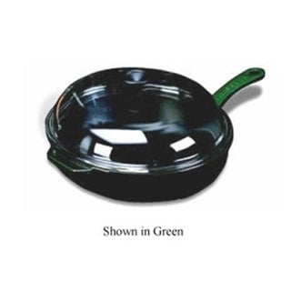World Cuisine A1731029 11 Inch Blue Frying Pan with Glass Lid