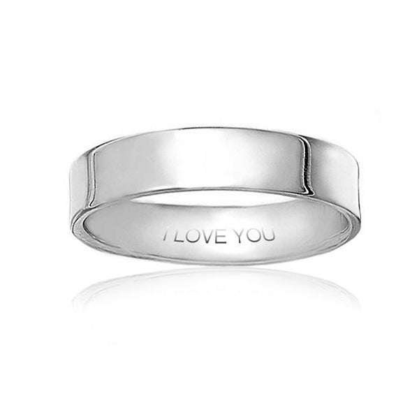 Men 9MM 925 Sterling Silver Wedding Band Classic Plain Flat Band Ring