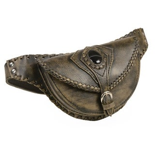 Ladies Brown Leather Belt Bag With Gun Holster