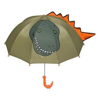 Boys Green Child Size Lightweight Dinosaur Umbrella