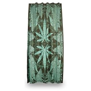 Handmade Cotton Hempest Marijuana Leaf Weed Curtain Drape Panel 56x85 Inches