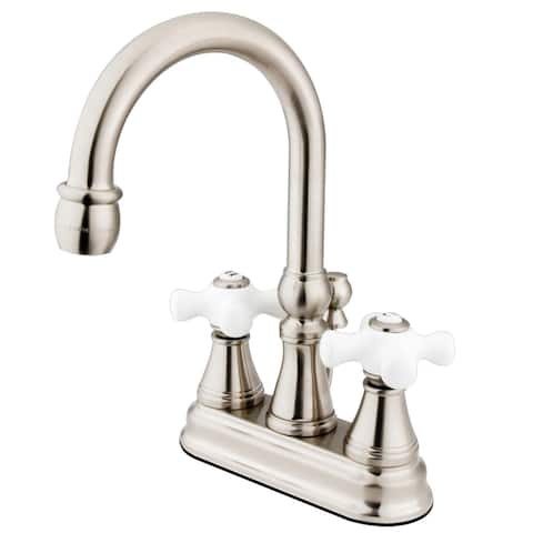 Governor Two-Handle 3-Hole Deck Mount 4 in. Centerset Bathroom Faucet in Brushed Nickel