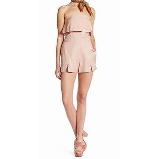 Dolce Vita NEW Blush Pink Women Size Large L Slit Front Strapless Romper