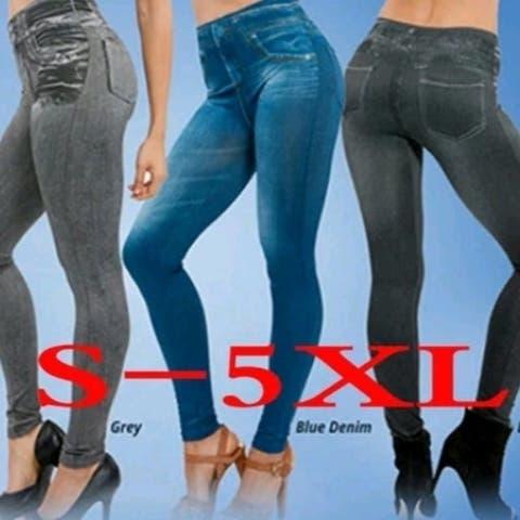 New Pocket Short Velvet Tunic Denim Leggings Seamless