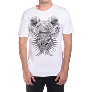 Just Cavalli Men Hawk Crest T-Shirt White