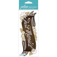 Jolee's Boutique Title Wave Dimensional Stickers-Just Married