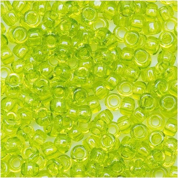 Toho Round Seed Beads 8/0 4 'Transparent Lime Green' 8 Gram Tube