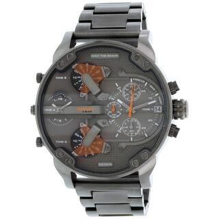 Diesel Men's Mr. Daddy DZ7315 Gunmetal Stainless-Steel Quartz Fashion Watch|https://ak1.ostkcdn.com/images/products/is/images/direct/7f1d22485fff8c486c82165f412e378af697a47f/Diesel-Men%27s-Mr.-Daddy-DZ7315-Gunmetal-Stainless-Steel-Quartz-Fashion-Watch.jpg?impolicy=medium