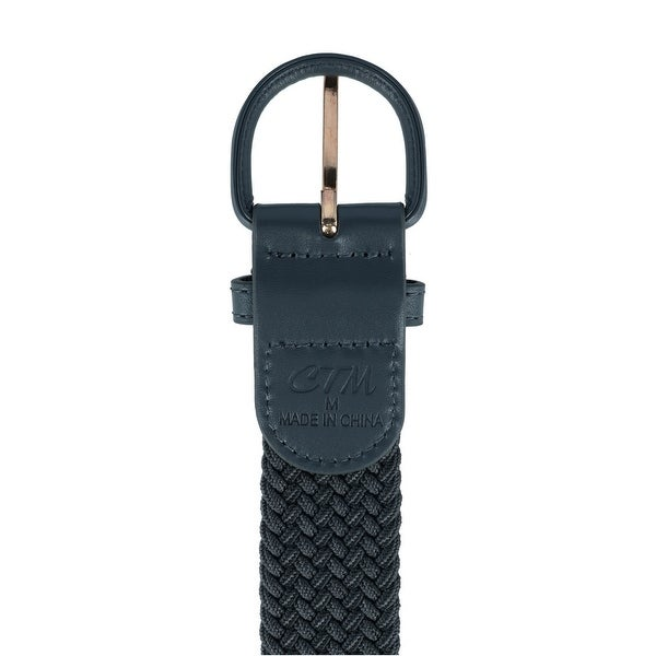 Big /& Tall Available CTM Mens Elastic Braided Belt with Covered Buckle