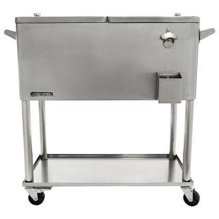 Permasteel 80 Qt. Stainless Steel Patio Cooler