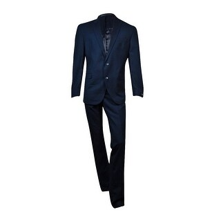 Kenneth Cole Men's Pinstripe Trim-Fit Suit (Blue, 46L/40W) - Blue - 46 t/40w