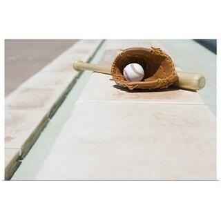 """""""Baseball equipment"""" Poster Print"""